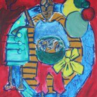 Osa Elaiho   Peace Offering   Acrylic on canvas   30 x 24