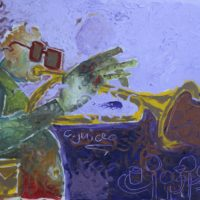 Osa Elaiho   Spirit of Miles Davis   Oil on canvas   18 x 24