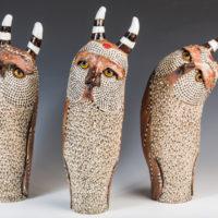 Joanne Bohannon   Owls   Ceramic   26 x 10