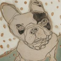 Joanne Bohannon   Pooch   Ceramic   14 x 14
