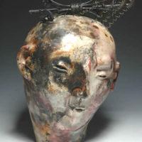Joanne Bohannon   Robert's Head   Ceramic, found objects   14 x 10