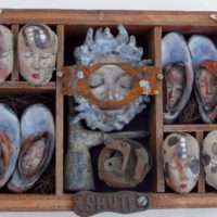 Joanne Bohannon   Lost and Found   Ceramic, found objects   14 x 8