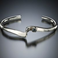 Kathryn Darner Booze l Sapphire Bracelet l Silver and Custom Faceted Sapphire